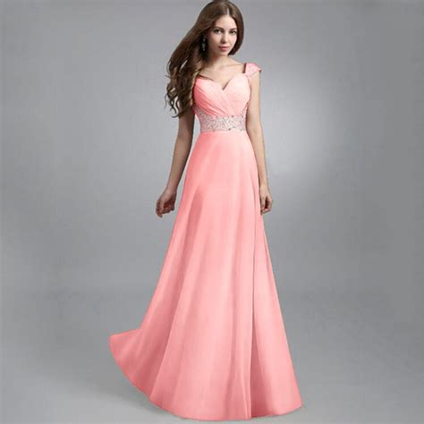Long Formal Evening Prom Party Dress Bridesmaid Dresses
