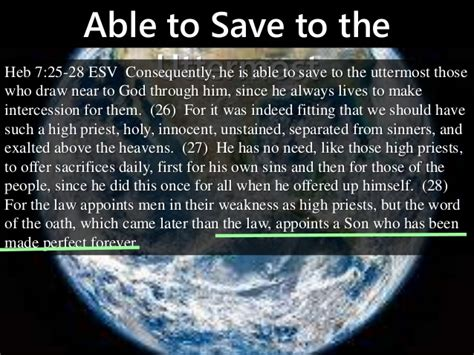 Able To Save To The Uttermost by M2014 S46 Jesus A High Priest Of The Order Of Melchizedek