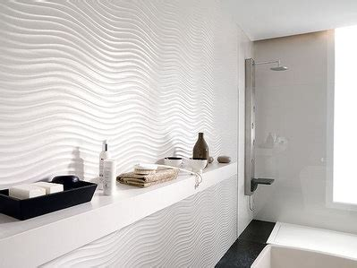 white wavy tile   Bathrooms   Pinterest   Tile