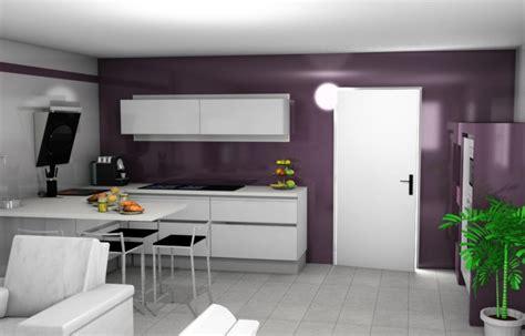 cuisine aubergine et grise vos avis sur ma cuisine