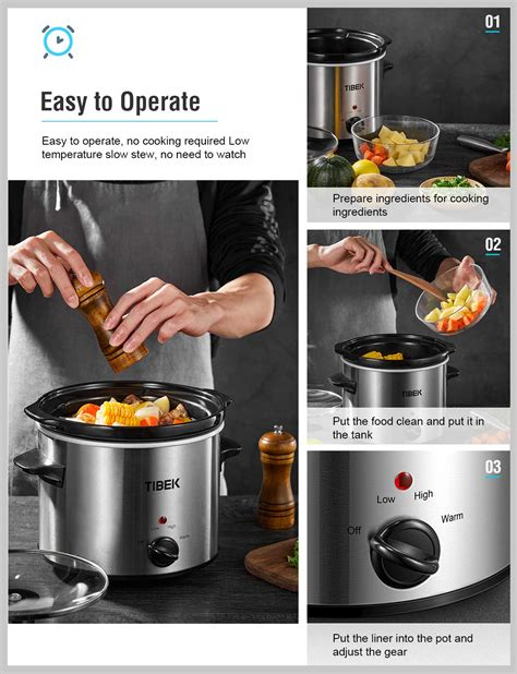 slow cooker settings crock pot temp dishwasher safe lid glass quart adjustable portable manual stoneware tempered stainless base steel cookers
