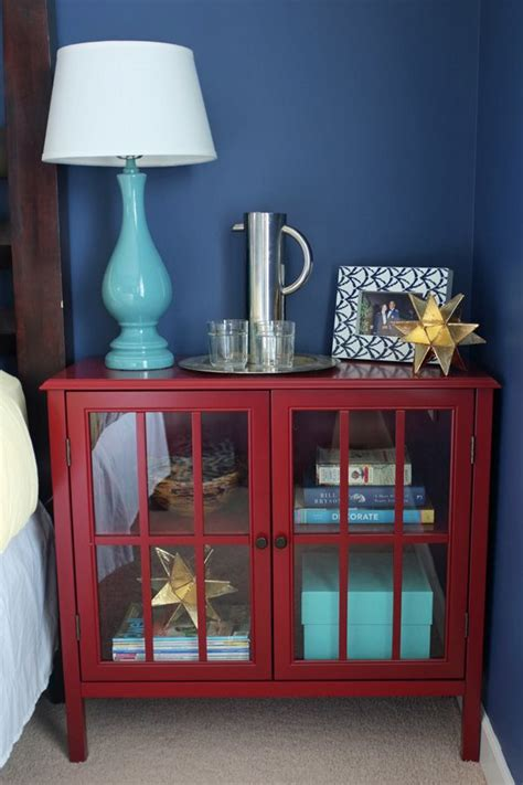 styling   red cabinet glass cabinet doors red