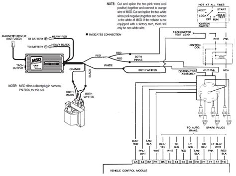 Msd Coil Tach Wiring by Where Does The White Tach Signal Wire Come From Third