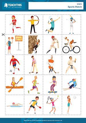 preschool worksheet gallery preschool sports matching