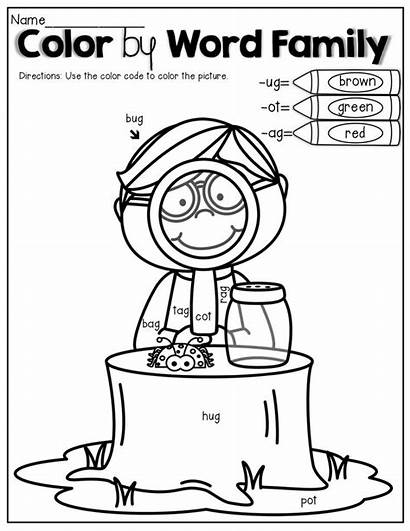 Word Coloring Pages Reading Kindergarten Quotes Education