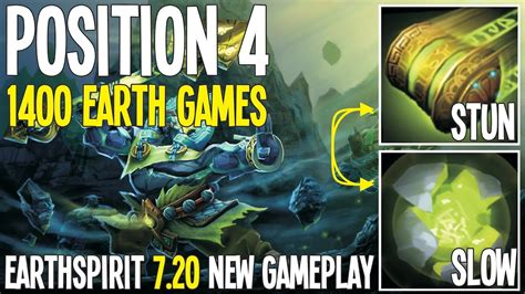 position 4 earth spirit new patch 7 20 gameplay dota 2 pro gameplay youtube