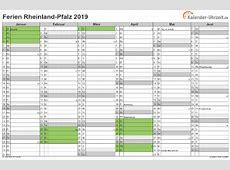 Ferien RheinlandPfalz 2019 Ferienkalender zum Ausdrucken