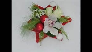 Art Floral Centre De Table Noel : 2015 diy tutoriel centre de table no l carr ment fleurs youtube ~ Melissatoandfro.com Idées de Décoration