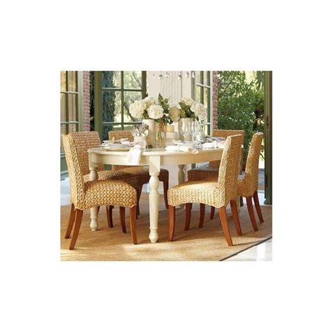used pottery barn seagrass chairs kirkwood dining table seagrass chair pottery barn