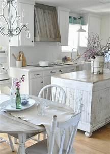 Table De Cuisine Blanche : 1001 conseils et id es de d co campagne chic fantastique ~ Teatrodelosmanantiales.com Idées de Décoration
