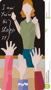 Teacher Illustration Series Stock Photography