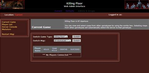 killing floor console commands join server killing floor admin login meze