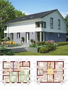 Modernes Haus Grundriss : modernes einfamilienhaus mit einliegerwohnung satteldach hausbau ideen grundriss ~ Orissabook.com Haus und Dekorationen