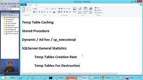 how to use temp table in sql server temp table caching in sql server sql workshops channel 9