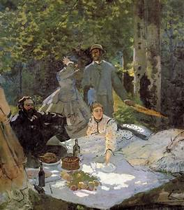 Lunch on the Grass (central panel) - Claude Monet ...