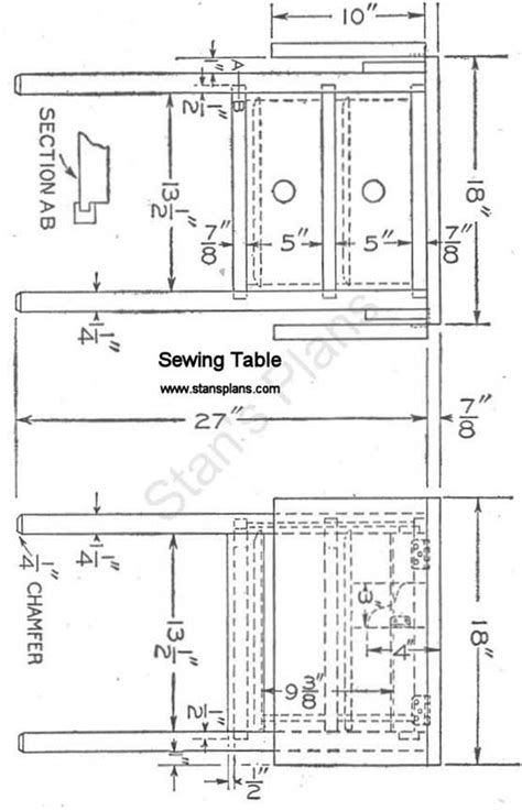 Sewing Desk Plans Free by Pdf Sewing Table Plans Free Plans Free