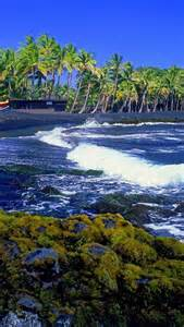 Black Sand Beaches Big Island Hawaii