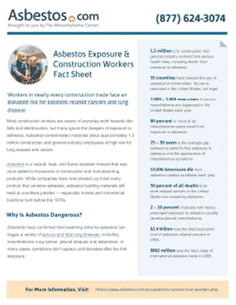 construction workers asbestos risks job duties lawsuits