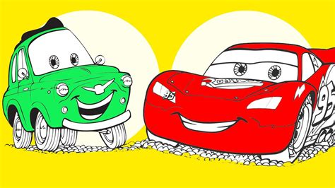 Disney Cars Coloring Pages Coloring Book YouTube