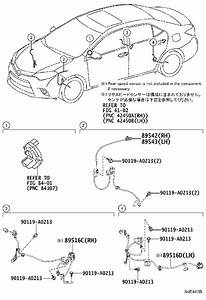 Toyota Corolla Abs Wheel Speed Sensor Wiring Harness
