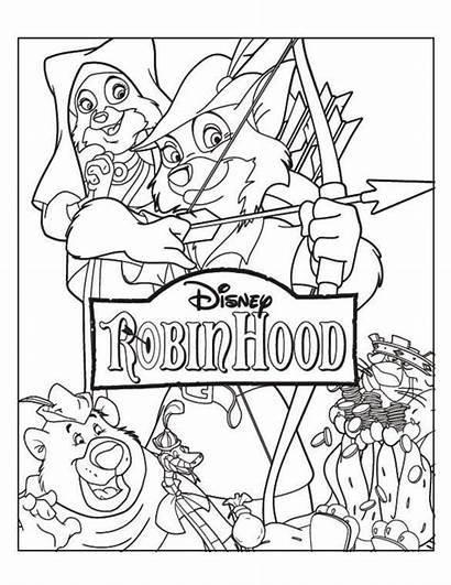 Robin Hood Coloring Disney Covers Ausmalbilder Kika