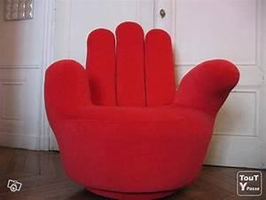 Fauteuil En Forme De Main : fauteuil design forme main rouge lyon 02 69002 ~ Teatrodelosmanantiales.com Idées de Décoration