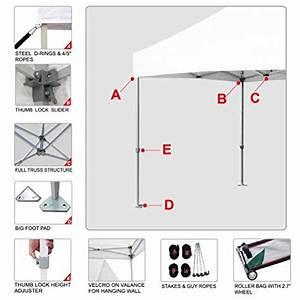 Eurmax 10 X 10 Easy Pop up Canopy Instant Tent Outdoor ...
