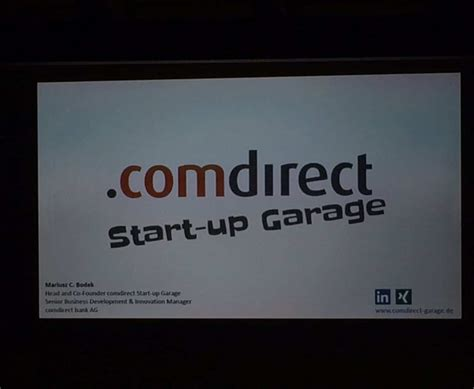 Comdirect Garage by Comdirect Start Up Garage Neues Der Werkbank