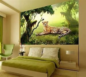 Schöne 3d Bilder : 3d sch ne leoparden fototapeten wandbild fototapete bild tapete familie kinder w nde ~ Eleganceandgraceweddings.com Haus und Dekorationen