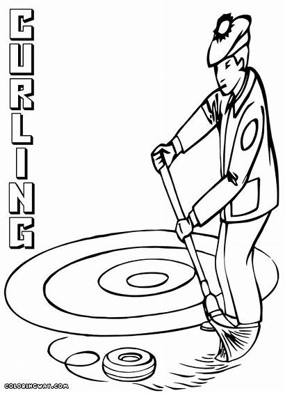 Curling Coloring Colorings Coloringway