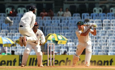 Final day of first test match against Australia