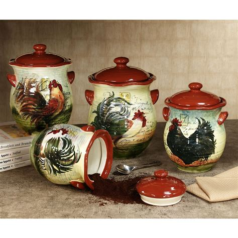 rooster kitchen canister sets le rooster kitchen canister set kitchens canister sets