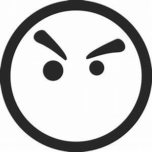 Angry Face Symbol Clip Art at Clker.com - vector clip art ...