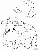 Cow Coloring Cartoon Printable Worksheets Cows Drawing Preschool Supercoloring Farm Letter Alphabet Getdrawings Crafts Paper Tags Simple Cartoons Categories sketch template