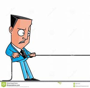 Businessman Pulling A Rope Stock Illustration  Image Of