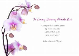 memorial service for roberta online invitations cards With in memory cards templates