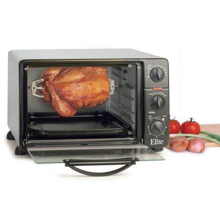 elite cuisine toaster elite cuisine 23 liter toaster oven with rotisserie