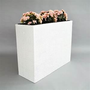 Blumenkübel Als Raumteiler : xxl pflanztrog polyrattan als raumteiler 82x30x80cm wei ~ Michelbontemps.com Haus und Dekorationen