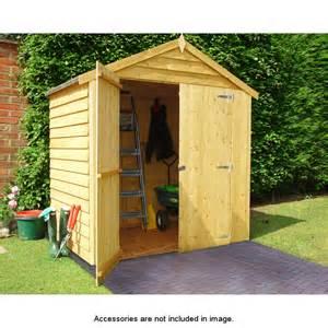 4 x 6 door overlap apex roof shed 265477 b m