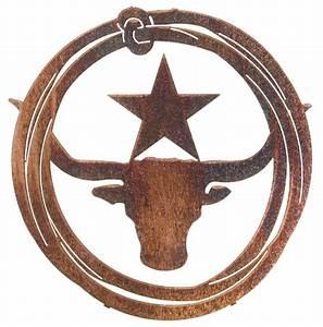 Longhorn Lasso By Joel Sullivan - Western Laser Cut Metal