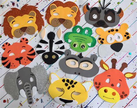mascara en fomi foami fomy de animales de la selva 338 00 en mercado libre