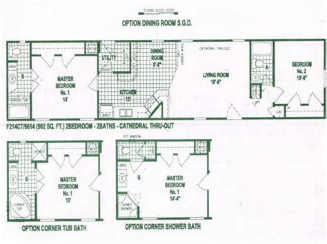 home blueprints single wide mobile home floor plans used single wide