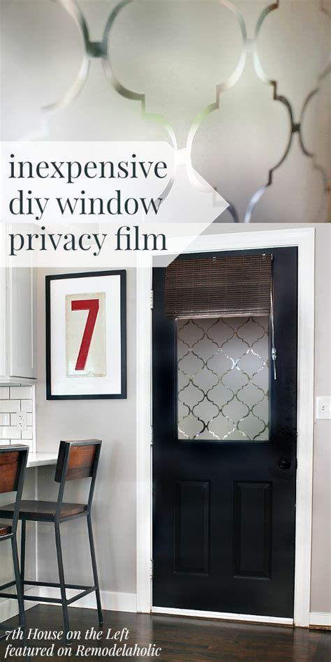 remodelaholic diy window privacy film  contact paper