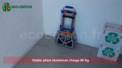 si鑒es pliants diable pliant en aluminium charge max 80 kg