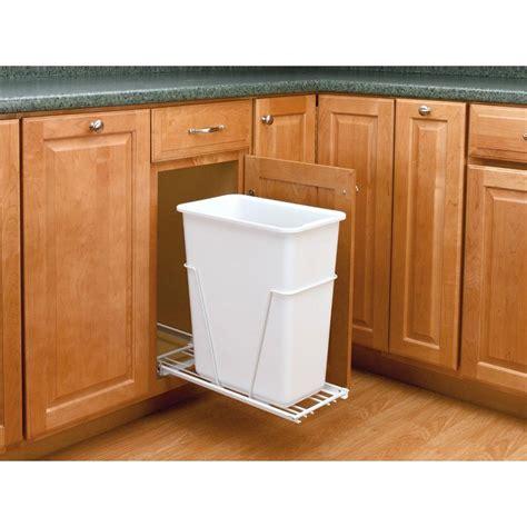 under sink garbage can track rev a shelf 19 25 in h x 9 5 in w x 22 in d single 30