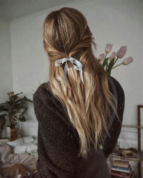ribbon hairstyle ideas  pinterest ribbon hair