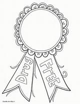 Ribbon Coloring Drugs Week Say Drug Pages Drawing Printables Abuse Anti Printable Activities Prevention Colouring Sheets Drawings Students Education Classroom sketch template