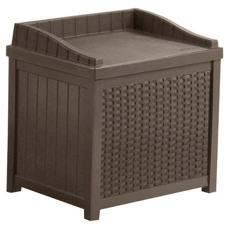 Suncast Resin Wicker Deck Box Brown by 22 Best Images About Outdoor Furniture Ideas On