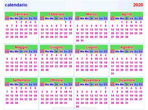 calendario orizzontale verticale