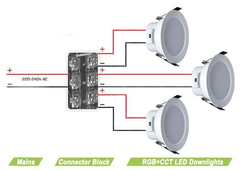 rgb dual white led downlight mains power 230v